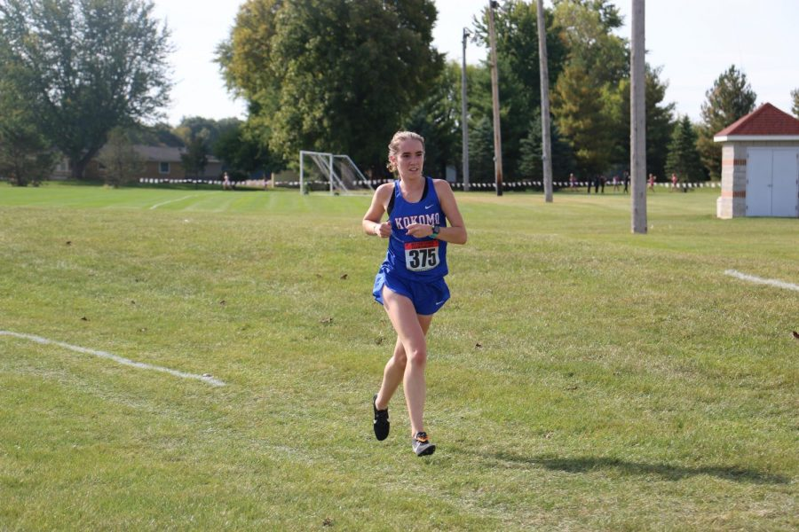 Junior+Julynne+Spidell+competes+in+the+NCC+meet+at+Indiana+Wesleyan.+Spidell+will+compete+in+the+regional+meet+tomorrow+after+finishing+2nd+at+the+sectional.+