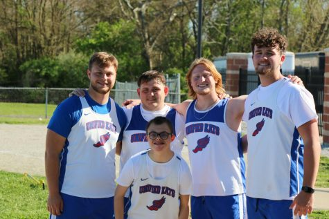 Senior Mitchell Van Horn participates in Unified Track. Van Horn plans to attend Ball State University to study nursing.